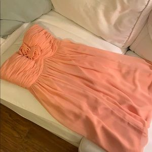 Donna Morgan strapless peach dress, size 2